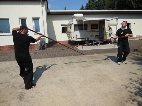 2013 Wurzen bei Leipzig, Langstocktraining beim Summercamp